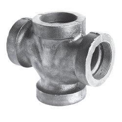 """2"""" Black Cast Iron Drainage Double 90° Wye Product Image"""