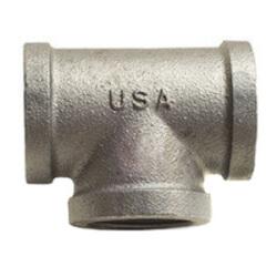 """1-1/2"""" Black Cast Iron Drainage Tee Product Image"""