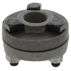 "1"" Black Cast Iron Steam Flange Union w/ Gasket Product Image"