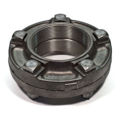 "1/2"" Black Cast Iron Steam Flange Union w/ Gasket Product Image"