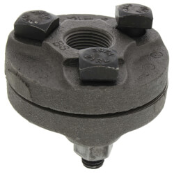 "3/4"" Black Cast Iron Steam Flange Union w/ Gasket Product Image"