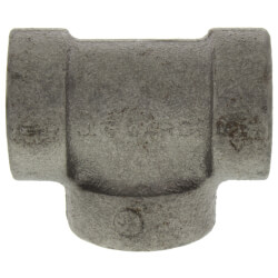 """1/2"""" Black Cast Iron<br>Steam Tee Product Image"""