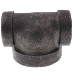 """1/2"""" x 1/2"""" x 1"""" Black Cast Iron Steam Reducing Tee Product Image"""