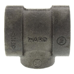 """1/2"""" x 1/2"""" x 1/4"""" Black Cast Iron Steam Reducing Tee Product Image"""