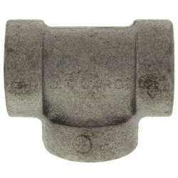 """3/8"""" Black Cast Iron<br>Steam Tee Product Image"""