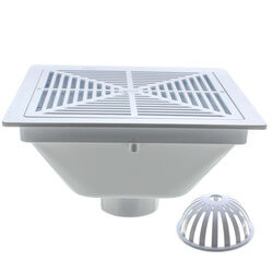"""PVC Floor Sink - 3"""" (w/ Full Grate and Dome Strainer) Product Image"""