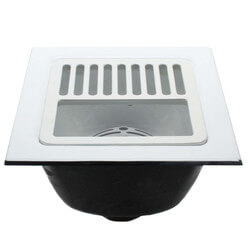 """12"""" X 12"""" A.R.E. Floor Sink, 6"""" Sump (1/2 Grate) Product Image"""
