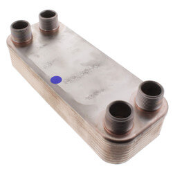 """14 Plate, 3/4"""" Thread, 8 GPM Heat Exchanger (3"""" x 8"""") Product Image"""