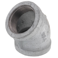 """1-1/2"""" Galv 45° Elbow Product Image"""