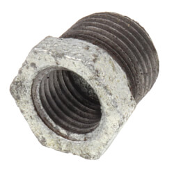 "3/8"" x 1/4"" Galv<br>Hexagon Bushing Product Image"