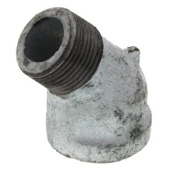 """1/8"""" Galv 45° Street Ell Product Image"""
