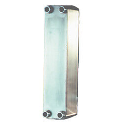 "30 Plate, 3/4"" Threaded TTP Brazed Plate Heat Exchanger (3"" x 8"") Product Image"