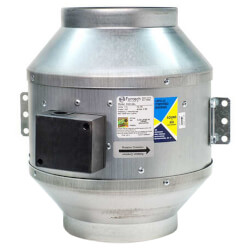 """FKD Series Round Inline Mixed Flow Centrifugal Fan, 10"""" Duct (1,266 CFM) Product Image"""