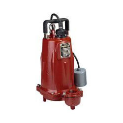 1-1/2 HP C.I. Auto Submersible Effluent Pump, 208/230V, 15' Cord Product Image