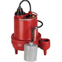 1/3 HP C.I. Auto Submersible Effluent Pump, 115V, 10' Cord Product Image