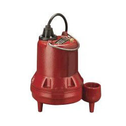 1/3 HP C.I. Manual Submersible Effluent Pump - 115V, 10' Cord Product Image