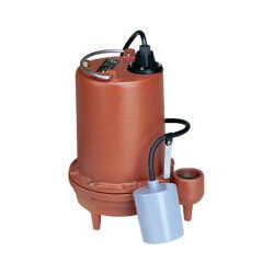 6/10 HP C.I. Auto Submersible Effluent Pump, 208-230V, 25 ft Cord Product Image