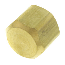 """3/8"""" Brass Flare Cap Product Image"""