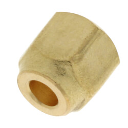 "1/4"" Brass Short Forged Flare Nut Product Image"