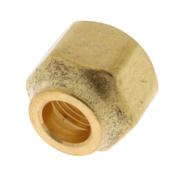 "3/8"" Brass Short Forged Flare Nut Product Image"