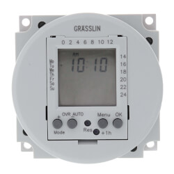 One-Circuit Electronic Time Switch, 16A, SPDT Panel Mounting (120V) Product Image