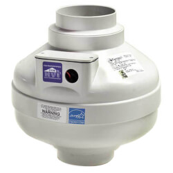 """FR Series Round Inline Exhaust Fan, 4"""" Duct<br>(137 CFM) Product Image"""