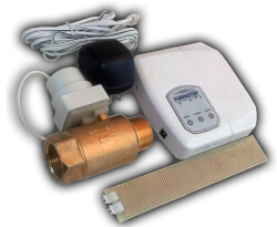 "Water Heater FloodStop w/ 3/4"" Ball Valve Product Image"