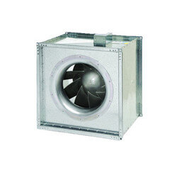 "FSD Series Square Inline Mixed Flow Centrifugal Fan, 18"" Duct (2,463 CFM) Product Image"