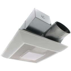 WhisperValue-DC 50-80-100 CFM Pick-A-Flow Ceiling Ventilation Fan w/ LED Light Product Image