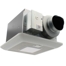 WhisperGreen Select Multi Speed Ceiling Ventilation Fan + LED Light (50-80-110 CFM) Product Image