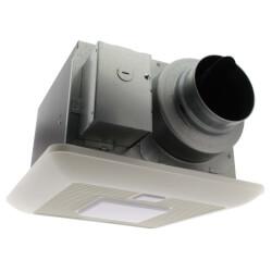 WhisperSense Lite 50/80/110 CFM Ceiling Mounted Fan w/ Light, Dual Motion & Humidity Sensor Product Image
