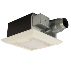WhisperFit EZ Dual Speed Ventilation Fan w/ Light, 80 or 110 CFM, 3 Duct Adapter Product Image