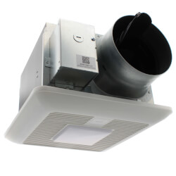 WhisperGreen Select Ceiling Vent Fan + LED Light (110-130-150 CFM) Product Image