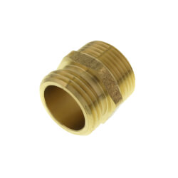"""3/4"""" x 3/4"""" Brass Garden Hose Fitting - 1/2"""" FIP Tap Product Image"""