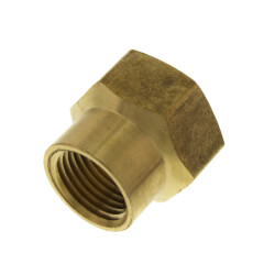 "3/4"" FHT x 1/2"" Female Pipe Brass Garden Hose Adapter (82GH) Product Image"