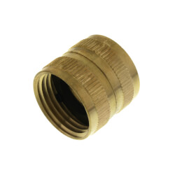 "3/4"" Female Hose x 3/4"" Female Hose Brass Garden Hose Swivel (S13) Product Image"
