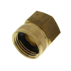 "3/4"" Female Hose x 3/4"" Female Pipe Brass Garden Hose Swivel (S12) Product Image"