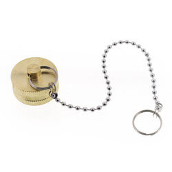 "3/4"" Garden Hose Cap with Chain (Lead Free) Product Image"