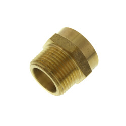 """3/4"""" FHT x 3/4"""" Male Pipe Brass Garden Hose Adapter (Lead Free) Product Image"""