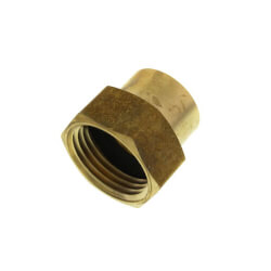 """3/4"""" FHT x 1/2"""" Female Pipe Brass Garden Hose Adapter (Lead Free) Product Image"""