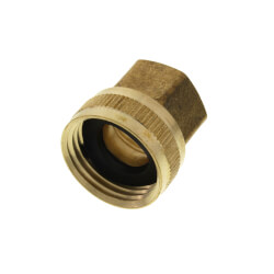 "3/4"" Female Hose x 1/2"" Female Pipe Brass Garden Hose Swivel (LF) Product Image"