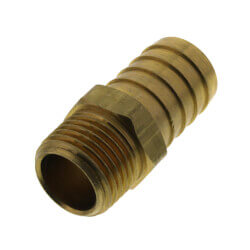 """3/4"""" Hose Barb x 1/2"""" Male Brass Pipe Adapter Product Image"""
