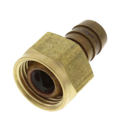 "1/2"" Hose Barb x 1/2 Female Pipe Brass Swivel Adapter Product Image"
