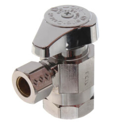 "1/2"" FIP x 3/8"" OD Comp 1/4 Turn Angle Stop, Lead Free (Chrome) Product Image"
