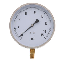 """4.5"""" PCT Contractor Pressure Gauge (0-15 PSI) Product Image"""