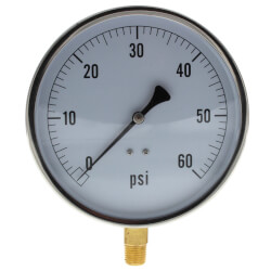 """4.5"""" PCT Contractor Pressure Gauge (0-60 PSI) Product Image"""
