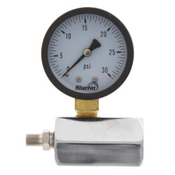 "2"" PET Economy Gas Test Pressure Gauge (0-30 PSI) Product Image"