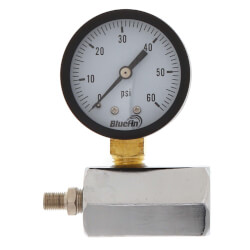 "2"" PET Economy Gas Test Pressure Gauge (0-60 PSI) Product Image"