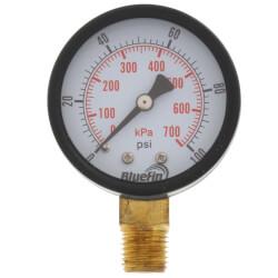 "2"" PEM Dual Scale Economy Pressure Gauge (0-100 PSI) Product Image"