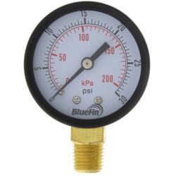 "2"" PEM Dual Scale Economy Pressure Gauge (0-30 PSI) Product Image"